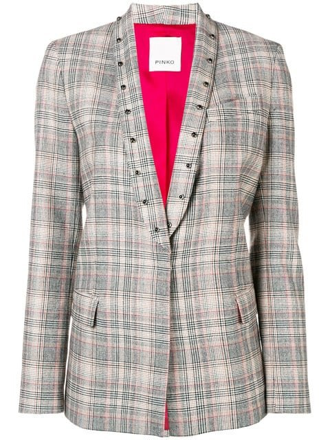 Pinko Prince Of Wales Check Blazer  - Farfetch