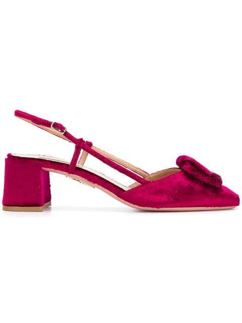 Aquazzura Low Heel Sandals - Farfetch