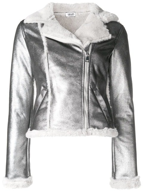 Liu Jo Shearling Biker Jacket - Farfetch