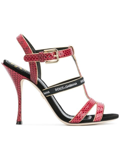 Dolce & Gabbana T-bar Heeled Sandals - Farfetch