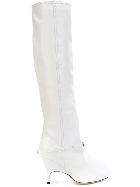 Alchimia Di Ballin Buckle Detail Knee Length Boot - Farfetch