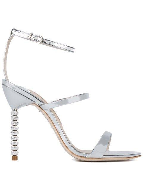 Sophia Webster Silver Leather Rosalind 115 Sandals  - Farfetch