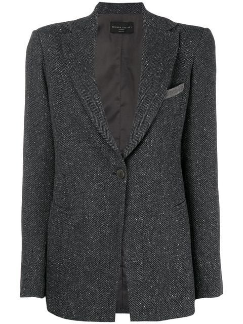 Fabiana Filippi Textured Single Breasted Blazer - Farfetch