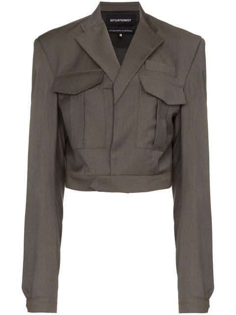 Situationist Boxy Cropped Jacket - Farfetch