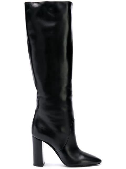 Saint Laurent Lou Knee Boots - Farfetch