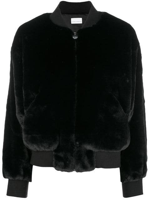 Chiara Ferragni Logomania Fur Bomber Jacket - Farfetch