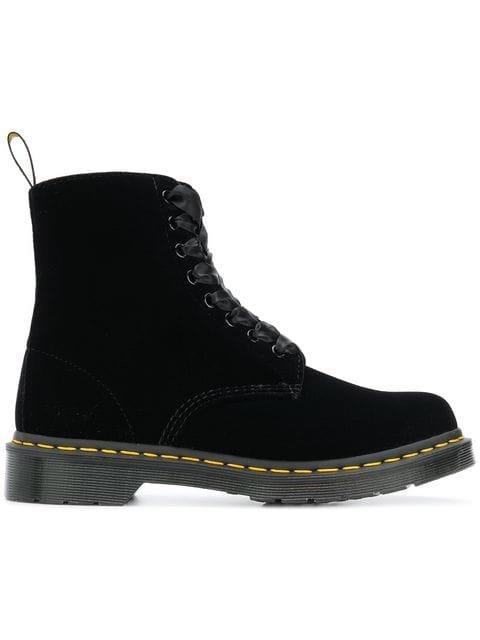 Dr. Martens Velvet Ankle Boots - Farfetch