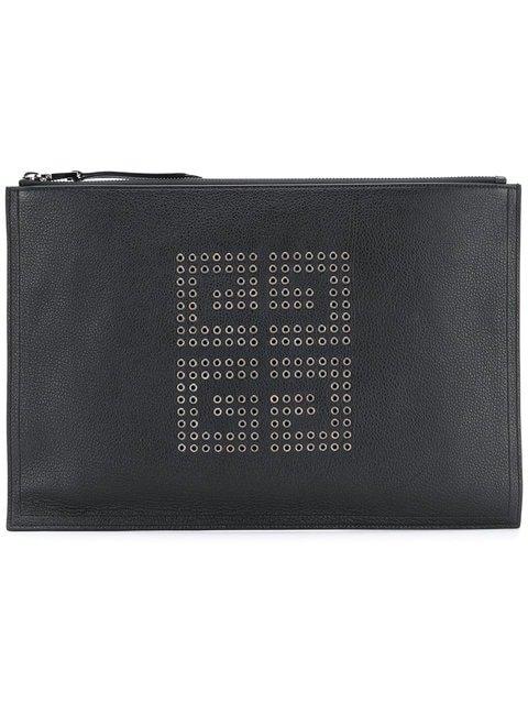 Givenchy Embellished Logo Clutch Bag - Farfetch