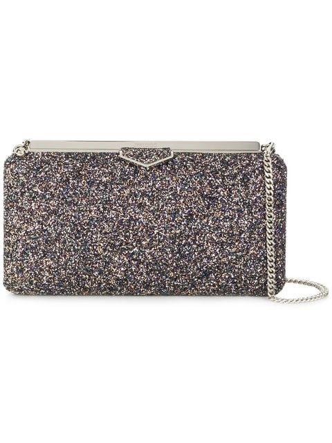 Jimmy Choo Glitzy Glitter Fabric Clutch Bag - Farfetch