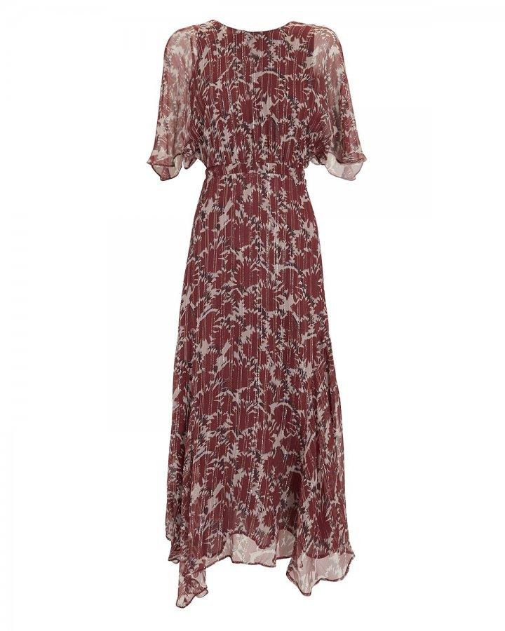 Paradise Silk Chiffon Midi Dress