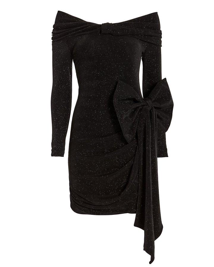 Bow Off Shoulder Mini Dress