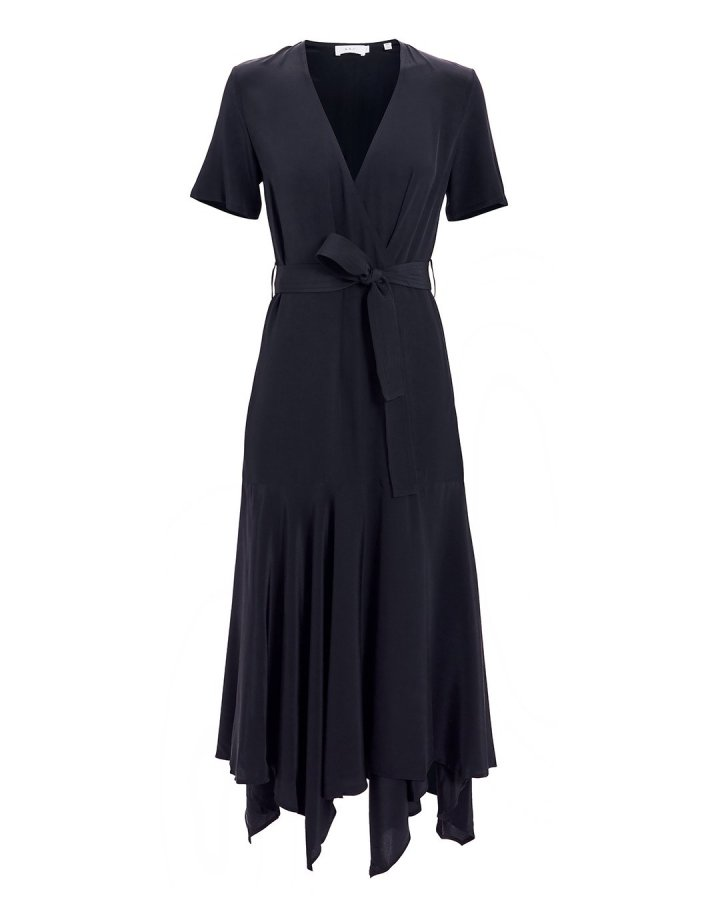 Cora Midnight Navy Wrap Dress