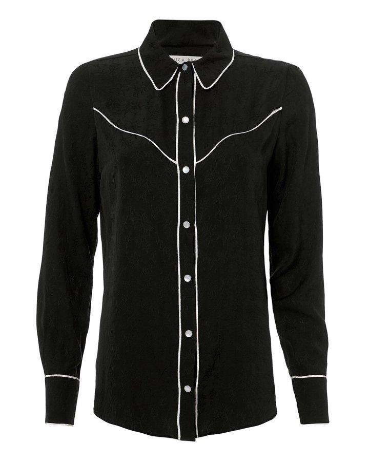 Mayben Western Silk Shirt