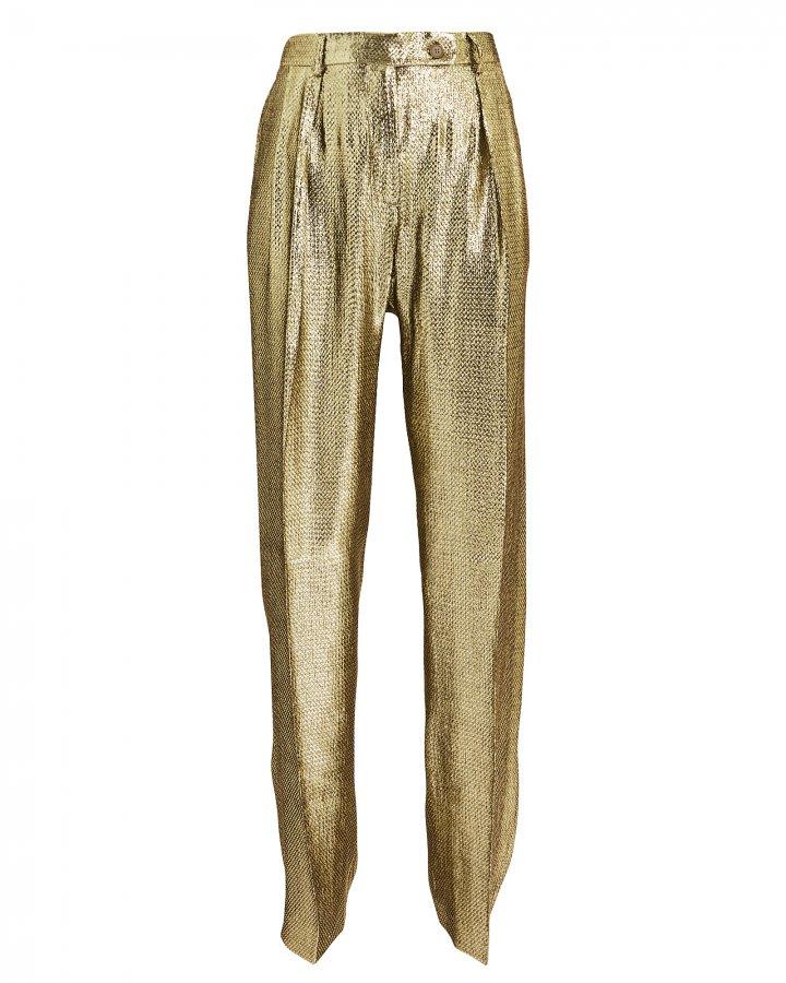 Gold Lamé Trousers