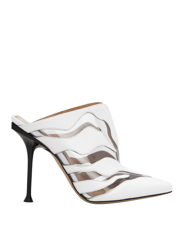 Tiger PVC Stiletto Mules