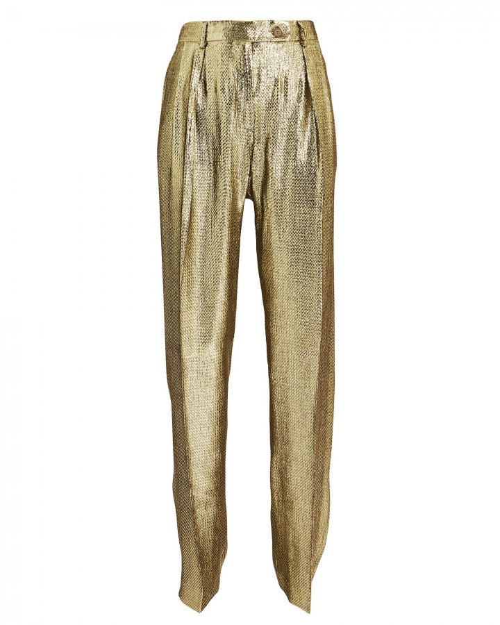 Gold Lamé Trousers