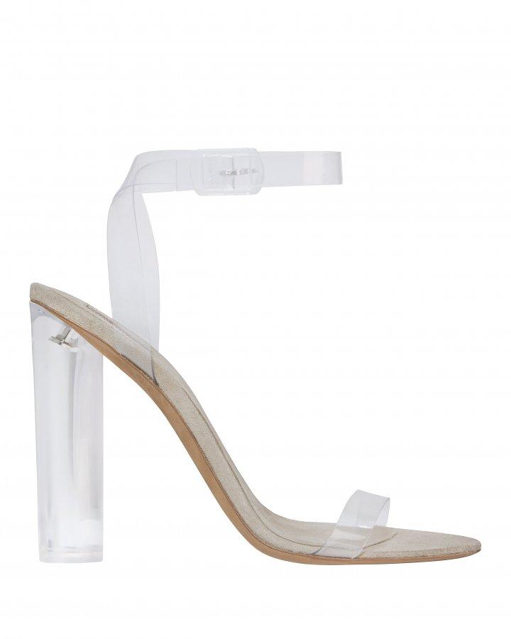 Transparent Ankle Strap Sandals