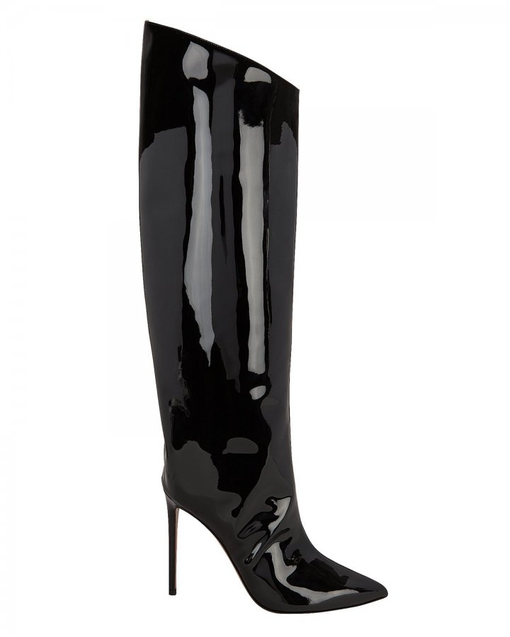 Alex Patent Leather Black Boots
