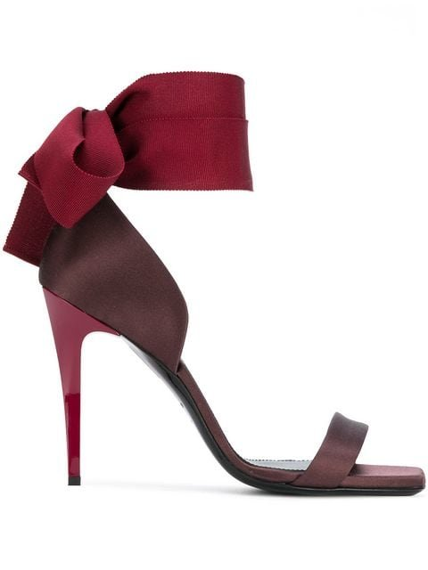 Lanvin Ankle Bow Sandals - Farfetch