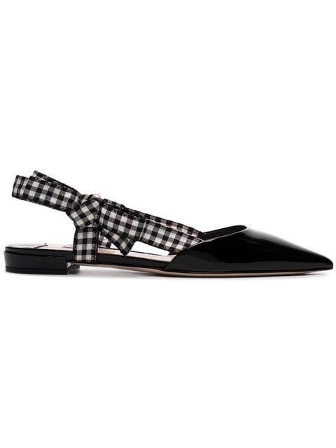 Miu Miu Flat Point Toe Sandals  - Farfetch