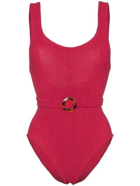 Hunza G Solitaire Seersucker Swimsuit - Farfetch