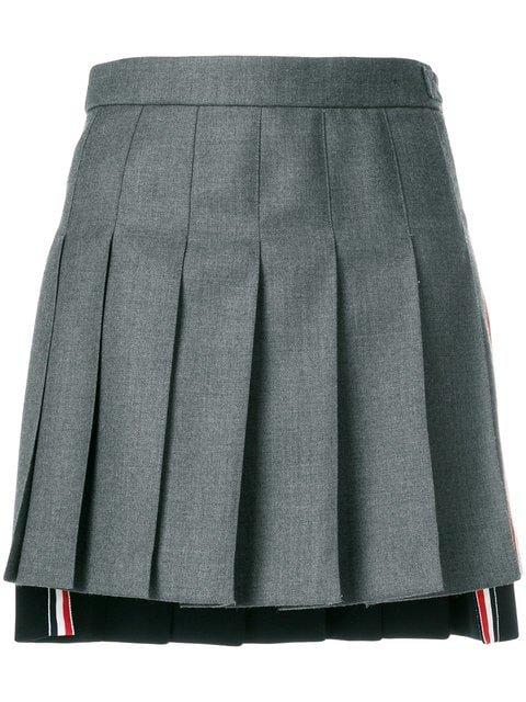 Thom Browne Striped Pleated Fun Mix Mini Skirt - Farfetch