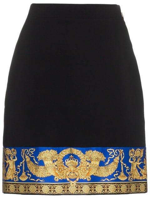 Versace Lovers Print Silk Mini Skirt - Farfetch