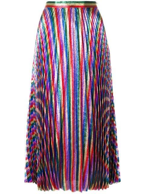 Gucci Iridescent Pleated Midi Skirt - Farfetch