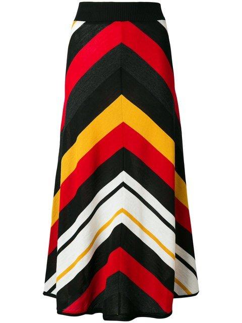 MSGM Striped Knitted Skirt - Farfetch