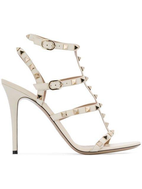 Valentino Rockstud Embellished Strappy Heels - Farfetch