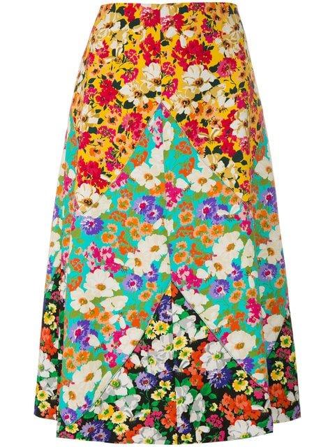 Gucci Long Floral Print Skirt - Farfetch