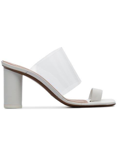 Neous White Chost 80 Leather PVC Sandals - Farfetch