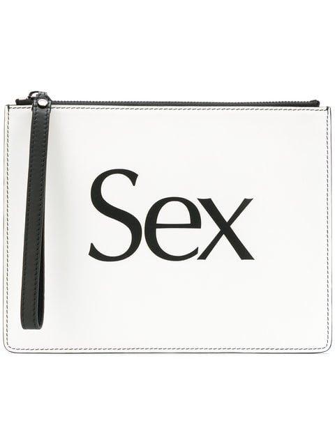 Christopher Kane Sex Slogan Clutch - Farfetch