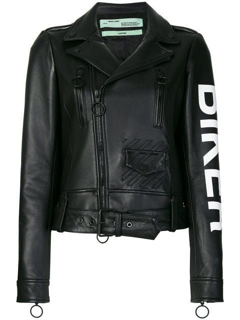 Off-White Biker Jacket - Farfetch
