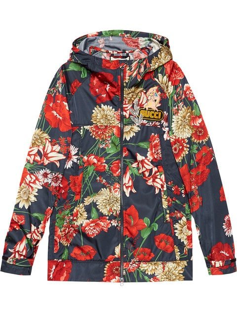 Gucci Spring Bouquet Nylon Jacket - Farfetch