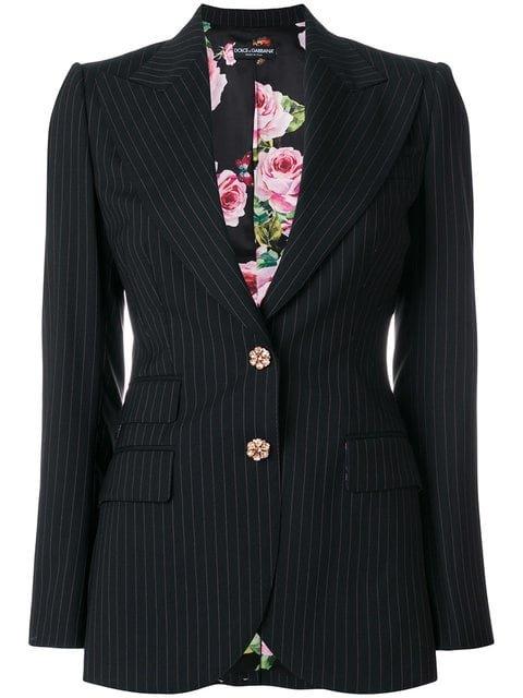 Dolce & Gabbana Pinstripe Fitted Blazer - Farfetch