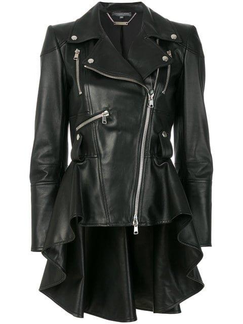 Alexander McQueen Peplum Waist Biker Jacket - Farfetch