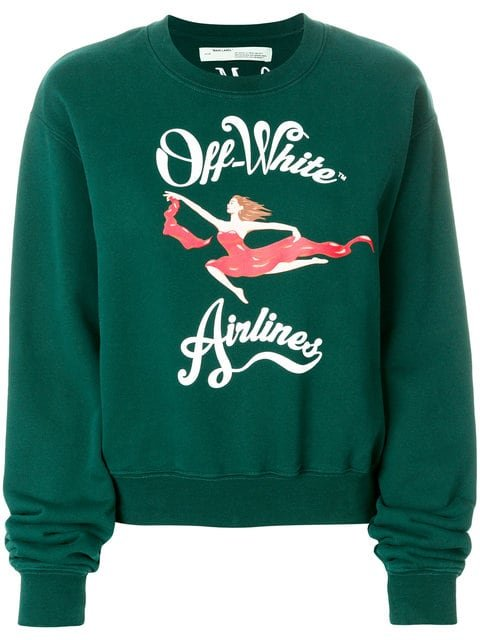 Off-White Airlines Print Sweatshirt - Farfetch