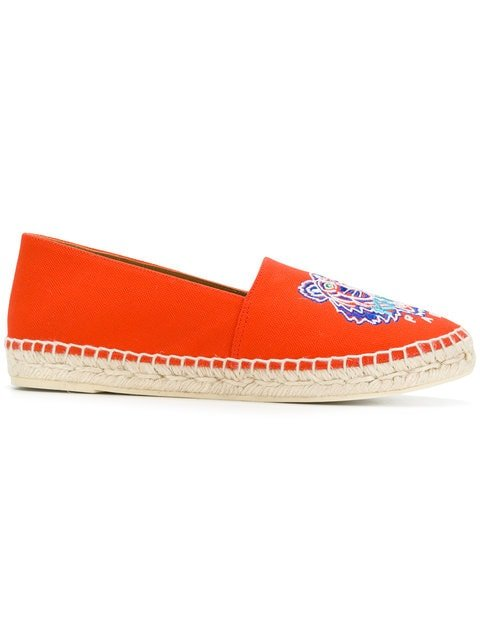Kenzo Embroidered Espadrilles - Farfetch