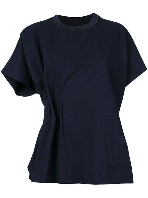 Maison Margiela Ruched Asymmetric T-shirt - Farfetch