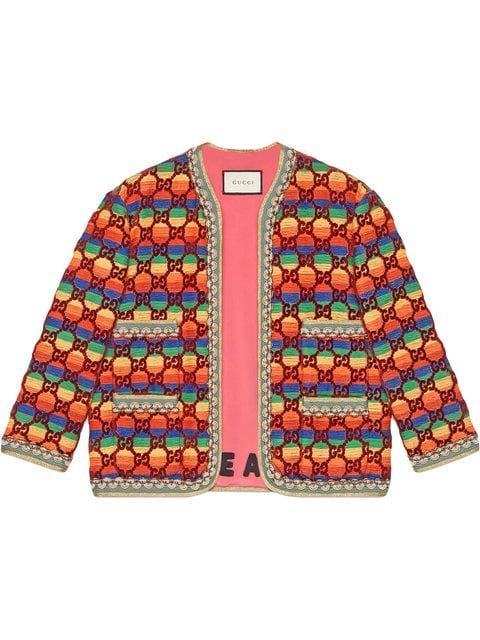 Gucci GG Rainbow Velvet Jacket - Farfetch