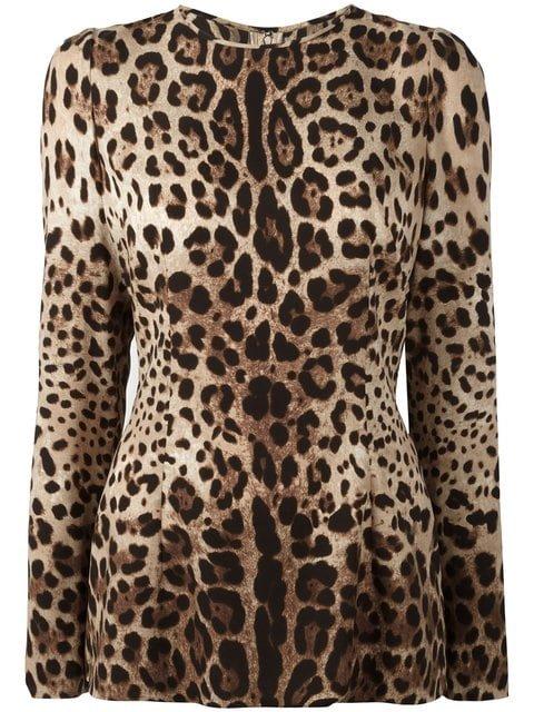 Dolce & Gabbana Leopard Print Top - Farfetch