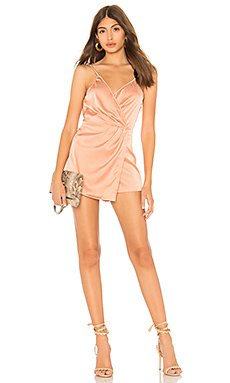 Lennox Satin Drape Romper                                             by the way.