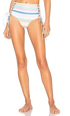 Lace Up Bikini Bottom                                             SKYE & staghorn