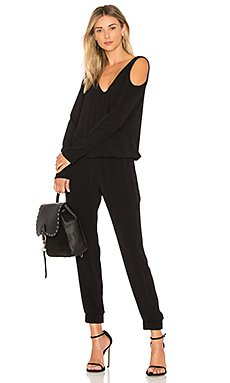 Cutout Shoulder Jumpsuit                                             MONROW