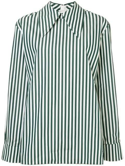 Marni Striped Oversized Collar Shirt - Farfetch