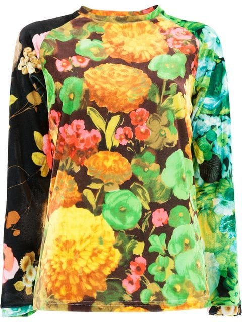 Richard Quinn Floral Fitted Top - Farfetch