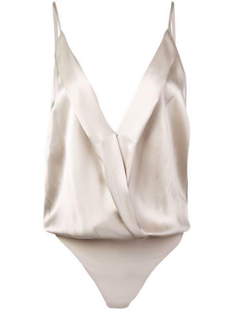 Michelle Mason Cami Wrap Bodysuit - Farfetch