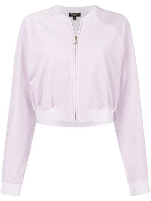 Juicy Couture Velour Crop Top - Farfetch