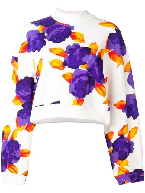 MSGM Cropped Jersey Sweater - Farfetch